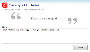 The Share SyncTXT Stories Page